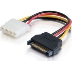 Cables To Go 6In 15-Pin Serial Ata Male To Lp4 Female Power Cable