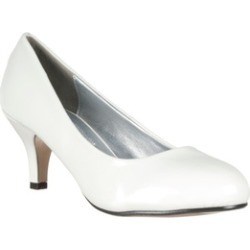 Riverberry 'M2584' Round-toe Mid-heel Patent Pumps, White Patent