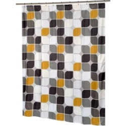 Carnation Home Fashions Extra Long Metro Fabric Shower Curtain
