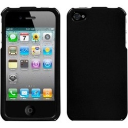 Insten Solid Black Case For iPhone 4 4S