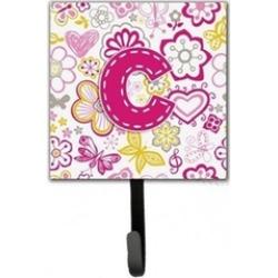 Carolines Treasures CJ2005-CSH4 Letter C Flowers And Butterflies Pink Leash