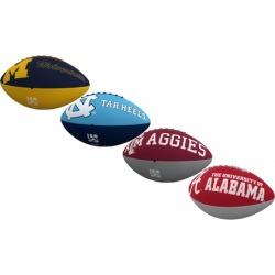 Logo Brands NCAA Junior-Size Rubber Football