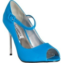 Riverberry Women's 'Peep Toe Mary Jane Style Stiletto Heels, Blue