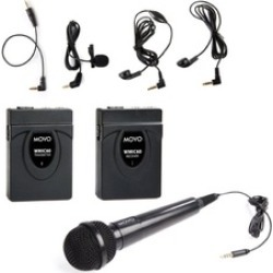 Movo WMIC60 2.4GHz Wireless Lavalier & Handheld Microphone System