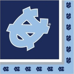 Creative Converting 207373 North Carolina Tar Heels Lunch Napkins