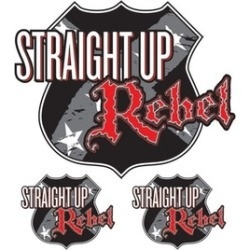 "6"" x 8"" Decal Straight Up Rebel"