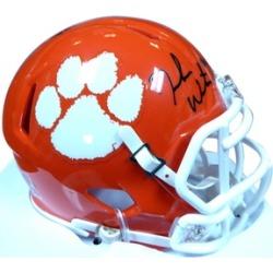 Autographed DeShaun Watson Clemson Tigers Orange Speed Mini Helmet