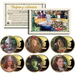 Wizard of Oz Kansas US Statehood Quarter (6-Coin Set)
