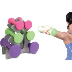 Women Gym Exercise Training Hand Weights Dumbbells Set Workout Fitness
