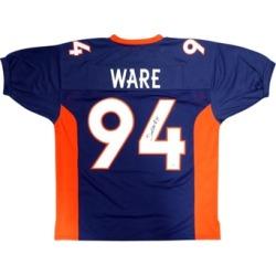 Autographed DeMarcus Ware Denver Broncos Blue Custom Jersey