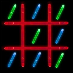 Glow in the Dark - Tic Tac Toe Game - Outdoor Table Game Set for Kids
