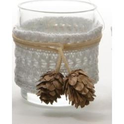 "3.25"" Winter Light White Glass Votive Candle Holder Christmas D""cor"