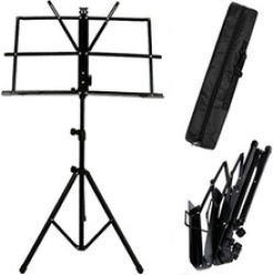 Folding Sheet Music Stand Score Holder Mount Tripod Carrying Gig Bag