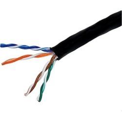 MP 1000ft Cat5e-Black Ethernet Bulk Cable Stranded 350Mhz UTP CM 24AWG