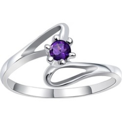 Orchid Jewelry 925 Sterling Silver 0.10 Carat Amethyst Ring