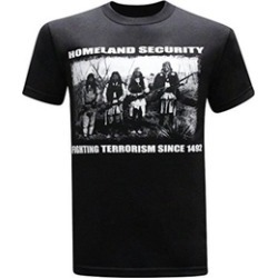Homeland Security Fighting Terrorism Native American Indian Men's Tee
