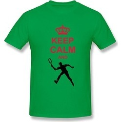 Coste Keep Calm Play Tennis White Adult Tee