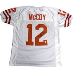 Autographed Colt McCoy Texas Longhorns White Custom Jersey