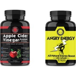 Apple Cider Vinegar w. Gymnema and Angry Energy Weight Loss Booster Pack