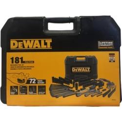 DEWALT 181 Mechanics Tool Set Black Chrome Polish With Hard Case