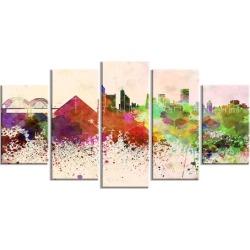 Memphis Skyline - Cityscape Canvas Artwork Print