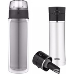 Thermos 18oz Double Wall Water Bottle & 16oz Drink Bottle w/Tea Infuser