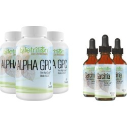 Lyfetrition Alpha GPC Premium Nootropic with Garcinia Liquid Drops
