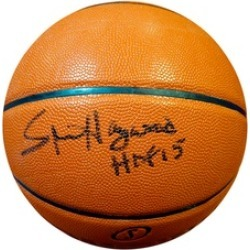 Autographed Spencer Haywood Seattle Sonics Spalding I/O Basketball