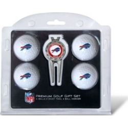 Team Golf 30306 Buffalo Bills Pack of 4 Golf Balls and Divet Tool Gift