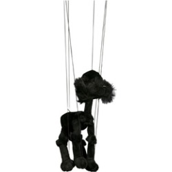 Sunny Toys WB343B 16 In. Baby Poodle - Black, Marionette Puppet