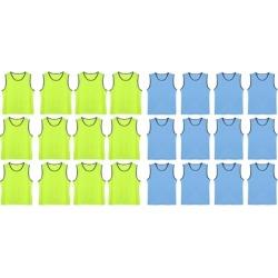 12 Pack Soccer Team Sports Training Net Vest Kids