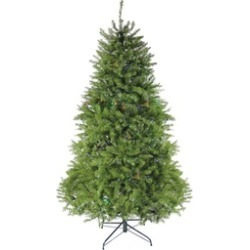 6.5' Pre-Lit Northern Pine Full Artificial Christmas Tree Multi-Color