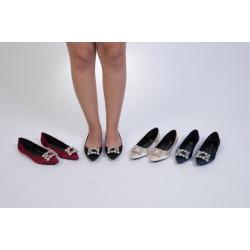 "N Demand Shoes ""Elis"" Simple but Elegant Flats LA234"