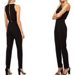 Women Summer Rounded Neck Casual Jumpsuit - KMWJ246