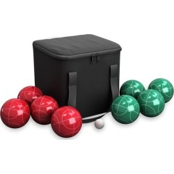 Bocce Ball Set- Outdoor Family Bocce Game with Carrying Case by Hey! Play!