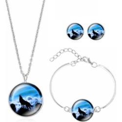 Wolf Jewelry Set