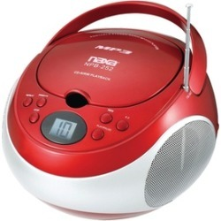 Naxa NPB252RD Portable Cd-mp3 Player With Am-fm Stereo -red