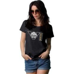 Decrum Superhero T-Shirts Black Graphic Tees for Woand