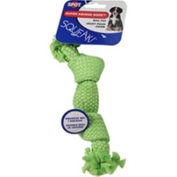 Ethical Dog 689725 Super Squeak Rope Dog Toy - Assorted 9 in.