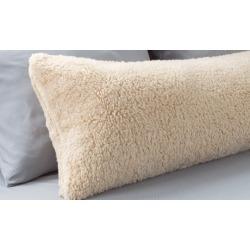 Lavish Home Sherpa Body Pillow Cover