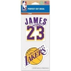Lebron James Set of 2 Die Cut Decal Stickers Perfect Cu Lakers