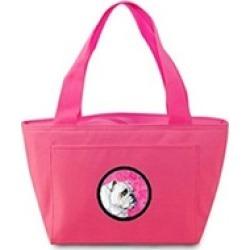 Carolines Treasures LH9364PK-8808 Pink Bulldog Lunch Bag Cooler