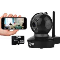 Black Label Cam Pro BL2605 Plug & Play FULL HD WiFi camera w/ Pan & Tilt & Night Vision w/optional SD Card (1-or 2-Pack)