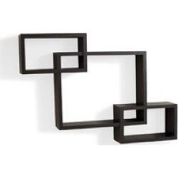 Danya B. YU008 Intersecting Espresso Wall Shelf