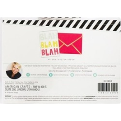 American Crafts HS313290 Blah Blah Blah - Cards A7 - Pack of 4