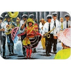 Carolines Treasures MW1224LCB Dancing in the Streets Mardi Gras Glass Cutting Bo