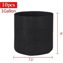 10 Pack Round Fabric Pots