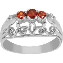 Orchid Jewelry 925 Sterling Silver 2/7 Carat Garnet Fashion Ring