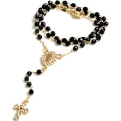 Plated Rosary with Cross Charm
