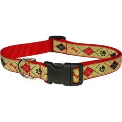 Sassy Dog Wear ARGYLE TAN3-C Argyle Dog Collar